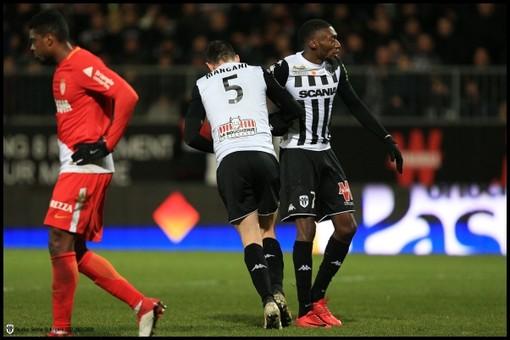 Angers - Monaco, una fase di gioco (foto tratta dal sito dell'Angers)