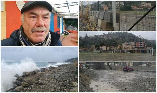 """Calcio. A Bordighera le mareggiate mettono a rischio il campo di calcio in Arziglia, Laganà """"Abbiamo cinquanta bambini e ora non sappiamo dove andare"""" (Video)"""