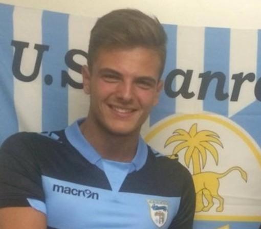 Samuele Massolo, ex portiere della Sanremese, ora in forza alla Virtus Entella in Serie C