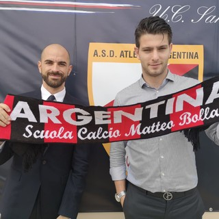 Il Direttore dell'Atletico Argentina Denis Settime con il preparatore dei portieri Emanuele Minuto (foto tratta dal sito dell'ASD Atletico Argentina)