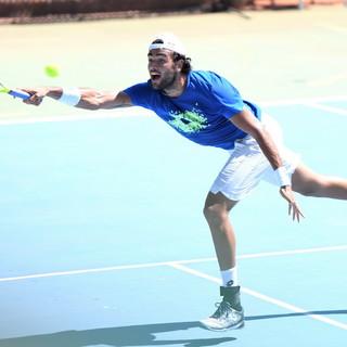 Allenamento al Tennis Sanremo per Matteo Berrettini: sabato sarà in campo a Nizza per l'Ultimate Showdown (Foto e Video)