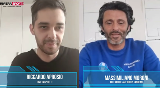 """Emergenza Coronavirus. Virtus Sanremo, mister Massimiliano Moroni non ci gira intorno: """"Non molliamo e usciremo da questa situazione"""" (VIDEO)"""