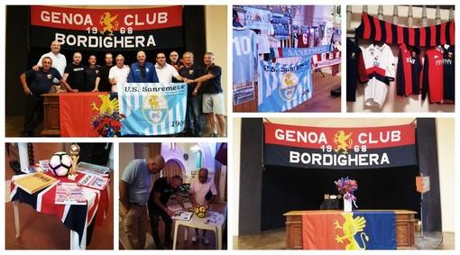 Calcio. Genoa Club Bordighera, grande festa per i 50 anni dalla fondazione con gli Irriducibili Sanremo (FOTO)