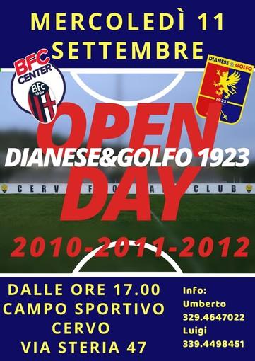 Calcio giovanile. Dianese&Golfo, Open Day in programma mercoledì 11 settembre