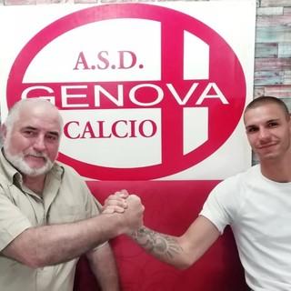Enrico Nelli, attaccante classe 1999, passa alla Genova Calcio (foto ASD Genova Calcio)