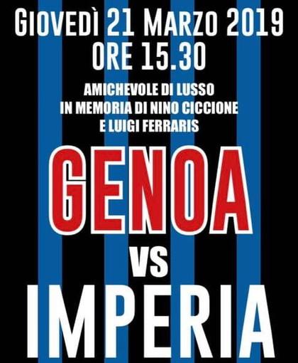 Calcio: giovedì prossimo al 'Nino Ciccione' di Imperia amichevole tra i nerazzurri ed il Genoa