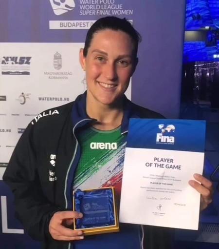 Pallanuoto. La grande protagonista: Giulia Gorlero premiata come miglior giocatrice del Setterosa contro l'Olanda