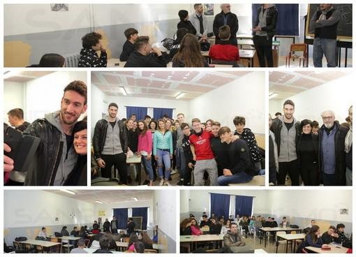 Volley. Taggia: al Liceo Scientifico dello Sport una lezione speciale con il campione della pallavolo Simone Parodi (VIDEO)
