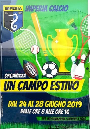 Calcio giovanile. L'ASD Imperia organizza un campo estivo