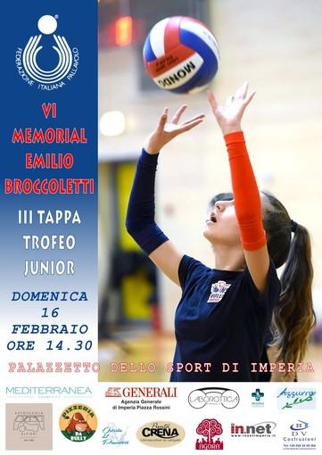 """Volley. Domenica il """"Sesto Trofeo Memorial Emilio Broccoletti"""" organizzato dalla Nuova San Camillo Volley Imperia"""
