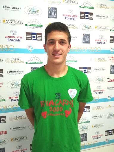 Mateo Likaxhiu, centrocampista della Sanremese