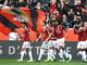 Nizza - Montpellier, l'esultanza di dante dopo la rete (foto tratta dal sito dell'OGC Nice)