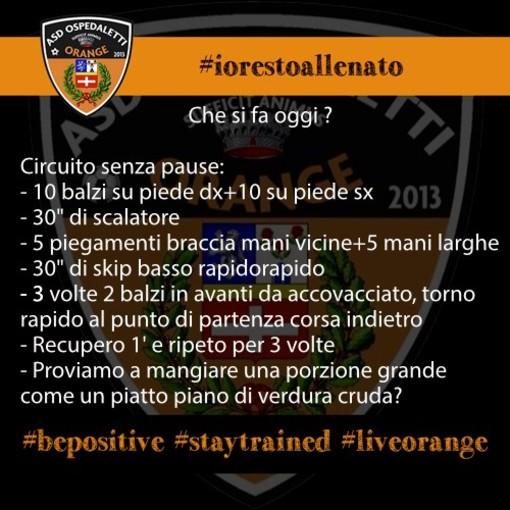 Calcio. #iorestoallenato, continua l'iniziativa dell'Ospedaletti