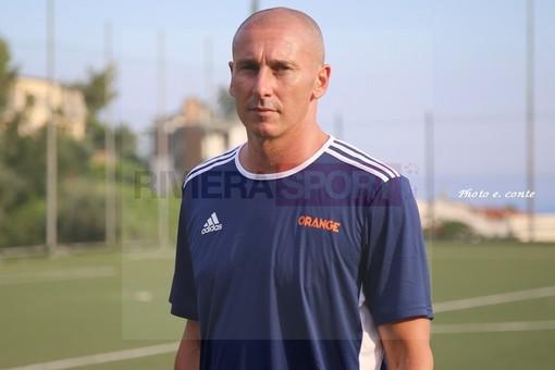 Alan Carlet, allenatore dell'Ospedaletti capolista in Promozione: è lui il miglior tecnico della settimana