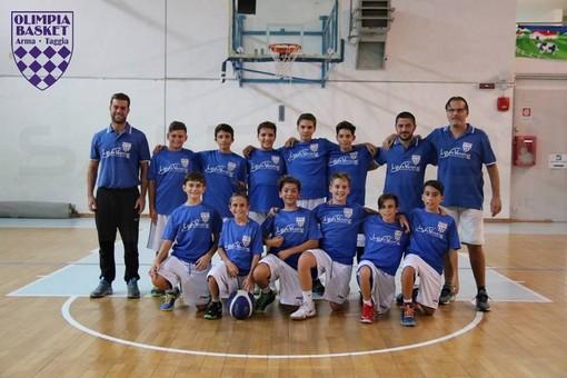 Pallacanestro: settimana di importanti successi per le squadre Under 13 e 14 dell'Olimpia Basket Taggia
