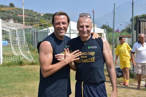 Paolo Tramezzani e Umberto Decesari durante il Football Camp del 2016 a San Bartolomeo al Mare