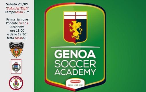 Calcio giovanile. Nasce la Ponente Genoa Academy dall'unione di Ospedaletti, Camporosso e Dolceacqua