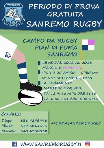 Palla Ovale. Il Sanremo Rugby riprende l'attività per la stagione 2019/2020