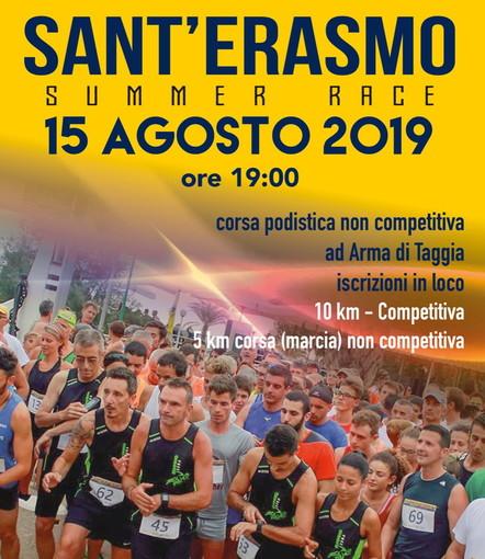 Arma di Taggia: verrà recuperata il 15 agosto la 6a edizione di 'Aspettando Sant'Erasmo 2019'