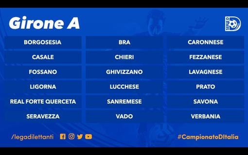 Calcio, Serie D: ufficializzato il girone A, ecco le avversarie di Savona, Vado e Sanremese