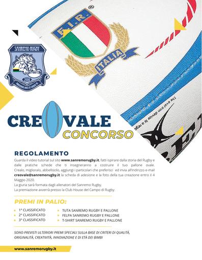 CreaOvale: al via il concorso dell'Imperia Rugby e del Sanremo Rugby con il supporto di Business Voices