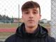 Giacomo Latella, giovane attaccante dell'Ospedaletti e autore dell'1-1 contro la Cairese
