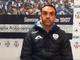 Nicola Ascoli, allenatore della Sanremese, subito dopo la vittoria contro il Savona