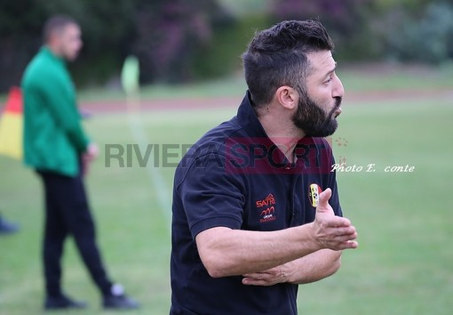 Manuele Fiore, allenatore del Don Bosco Valle Intemelia (foto Eugenio Conte)