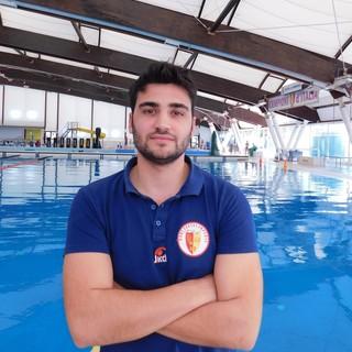 Davide Dreossi, allenatore della Rari Nantes Imperia Sezione Nuoto