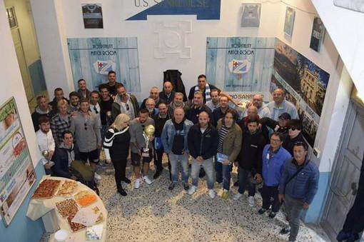 Calcio: ieri pomeriggio, in scena la festa per la premiazione dei giocatori della Sanremese organizzata dagli Irriducibili Sanremo (foto)