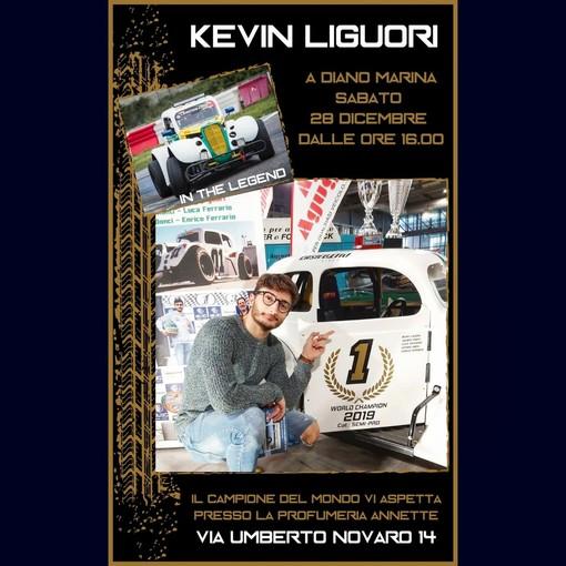 Motori. Grande appuntamento sabato pomeriggio a Diano Marina con il campione del mondo Kevin Liguori