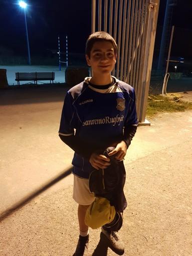 Sanremo Rugby, Mattia Pangallo del Sanremo Rugby convocato in rappresentativa Under 14