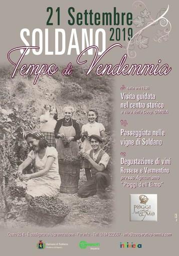 """A Soldano è """" Tempo di Vendemmia"""", al via un tour turistico creato dalla Confesercenti con più tappe, in alcuni luoghi magici del Ponente Ligure"""